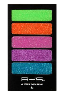 BYS Neon Glow 5pc Glitter Creme Palette