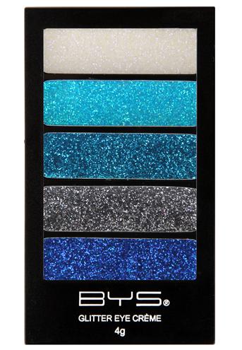 BYS platinum Blues 5pc Glitter Creme Palette
