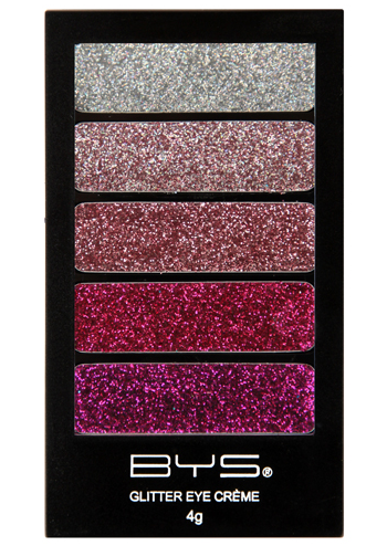 BYS Pink Glamour 5pc Glitter Creme Palette