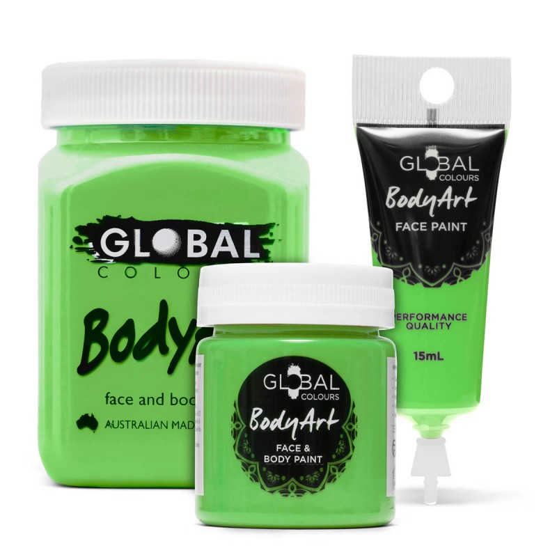 Lime Green Face & BodyArt Liquid Paint Global Colours