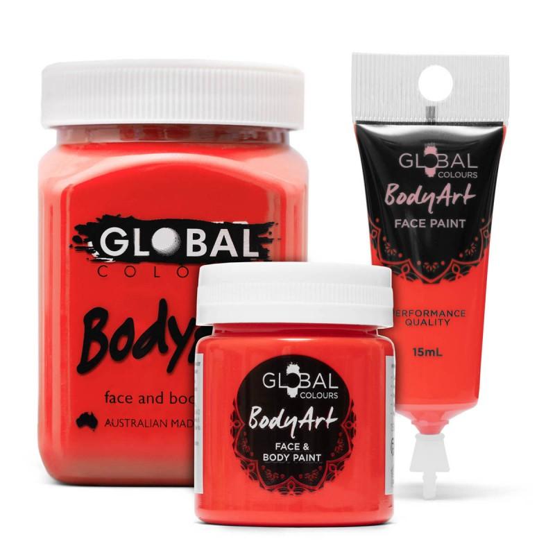 Brilliant Red Face & BodyArt Liquid Paint Global Colours