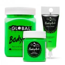 Neon Green UV Face & BodyArt Liquid Paint Global Colours