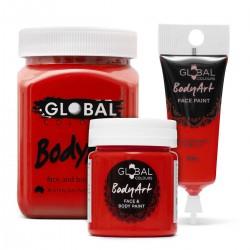 Deep Red Face & BodyArt Liquid Paint Global Colours