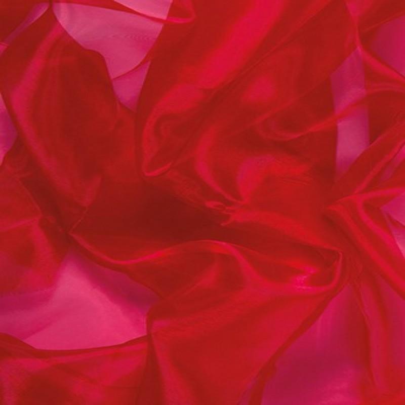 Red Fluffy Crystal Organza Boa 250cm