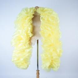 Yellow Fluffy Crystal Organza Boa 250cm