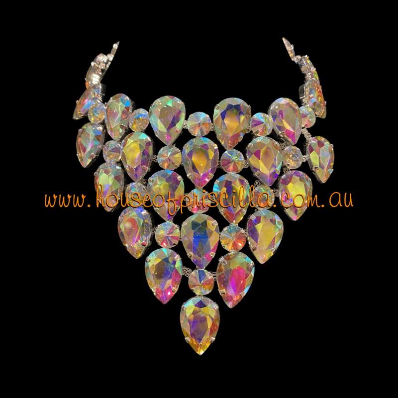 Aurora Borealis Crystal Diamante Necklace 2