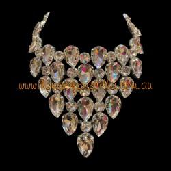 Clear Crystal Diamante Necklace 2