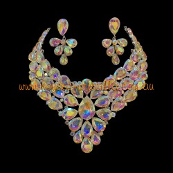 Aurora Borealis Crystal Diamante Jewellery Set 1