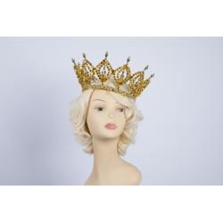 Gold Medium Plastic Crown