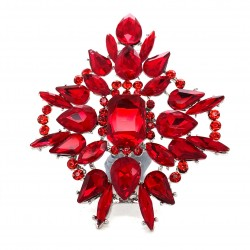 Red Crystal Diamante Ring 09