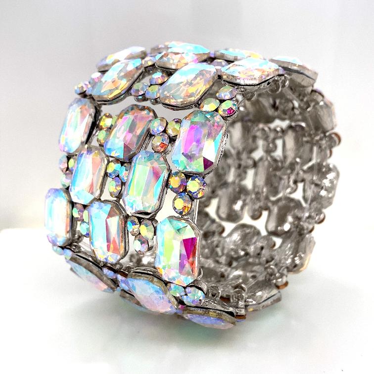 Aurora Borealis Crystal Diamante Bracelet No 2