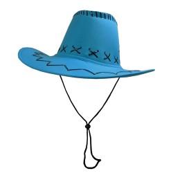 Carnival Style Cowboy Hat Aqua