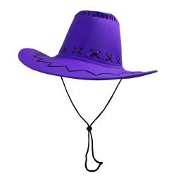 Carnival Style Cowboy Hat Purple