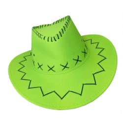 Carnival Style Cowboy Hat Neon Green