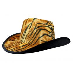 Carnival Style Cowboy Hat Tiger Print