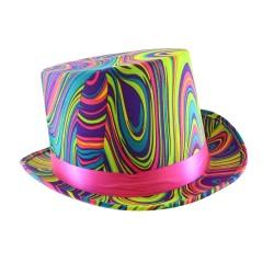 Top Hat Neon Swirl