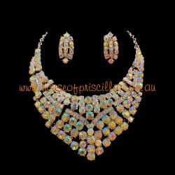 Aurora Borealis Crystal Diamante Jewellery Set 2
