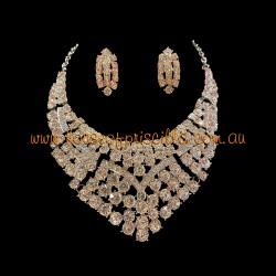 Clear Crystal Diamante Jewellery Set 2