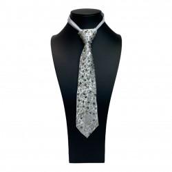 Sequin Tie Silver