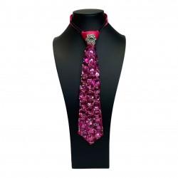 Jewelled Tie Hot Pink