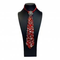 Jewelled Tie Red