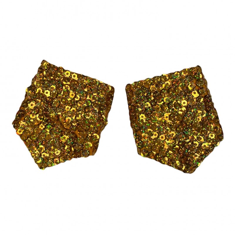 Sequin Cuff Gold