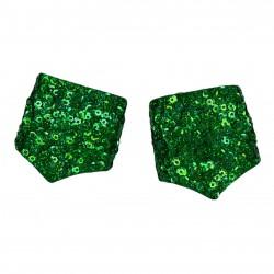 Sequin Cuff Dark Green