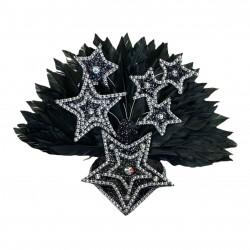 Black Star Mini Showgirl Feathered Headpiece