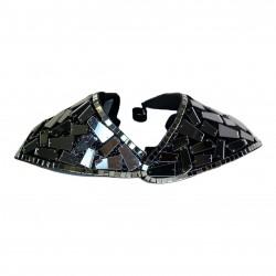 Black & Silver Plastic Mirror Shoulder Piece