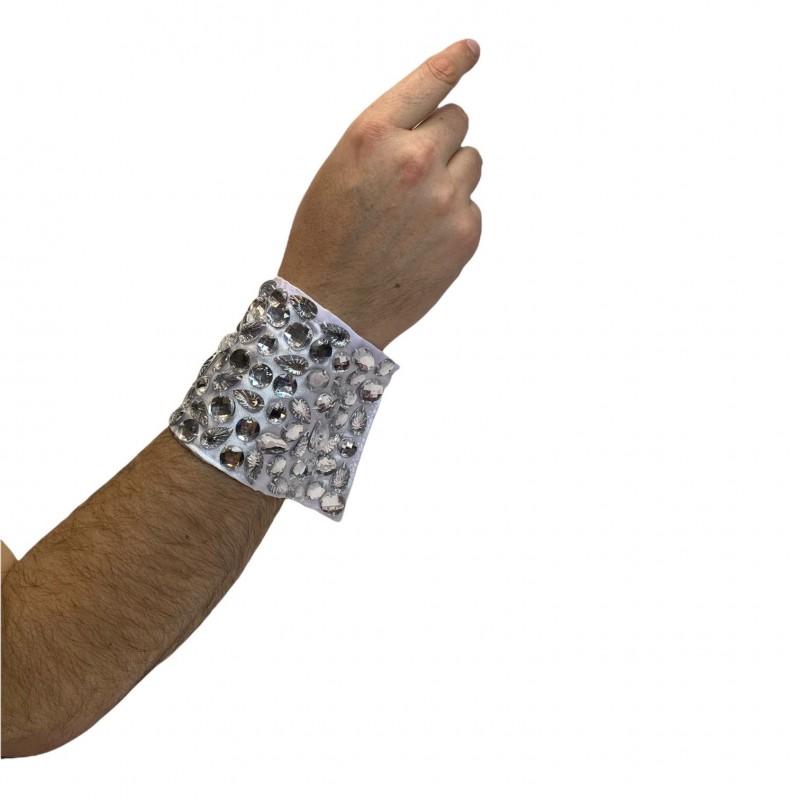 Long Jeweled Cuff Clear