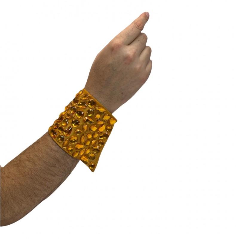 Long Jeweled Cuff Gold