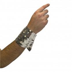 Long Sequin Cuff Silver
