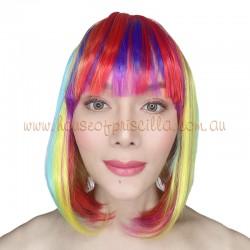 China Rainbow Short Synthetic Bob Wig