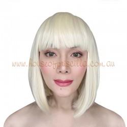 "Short Synthetic Bob Wig ""China"" Blonde"