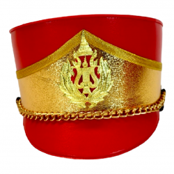 Deluxe Marching Band Hat Gold and Red