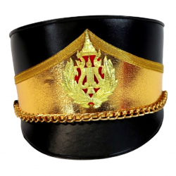 Deluxe Marching Band Hat Gold and Black