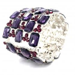 Purple Crystal Diamante Bracelet No 2