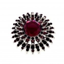 Purple Crystal Diamante Ring 11