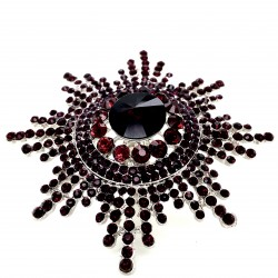 Purple Crystal Diamante Ring 08