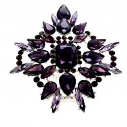 Purple Crystal Diamante Ring 09