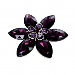 Purple Crystal Diamante Ring 04