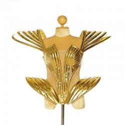 Ga Ga Deluxe PVC Corset Metallic Gold