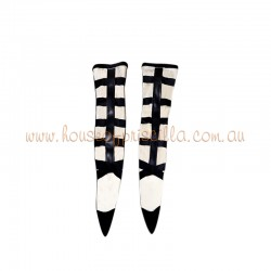 Large Lace Up Socks Nude Strap