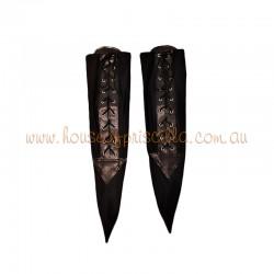 Small Lace Up Socks Black