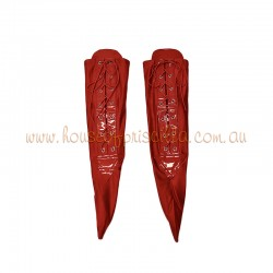 Large Lace Up Sock Red
