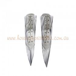 Medium Lace Up Sock Silver