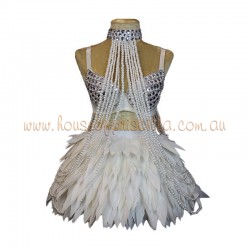 Deluxe Feather Skirt White