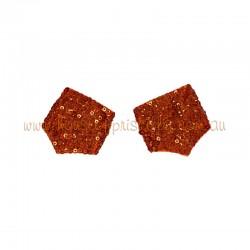 Sequin Cuff Red