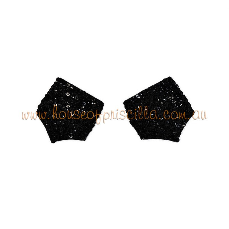 Sequin Cuff Black