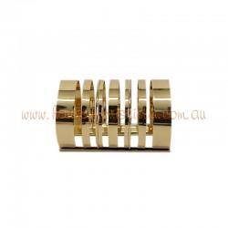 Gold Plated Metallic Cuff Bracelet